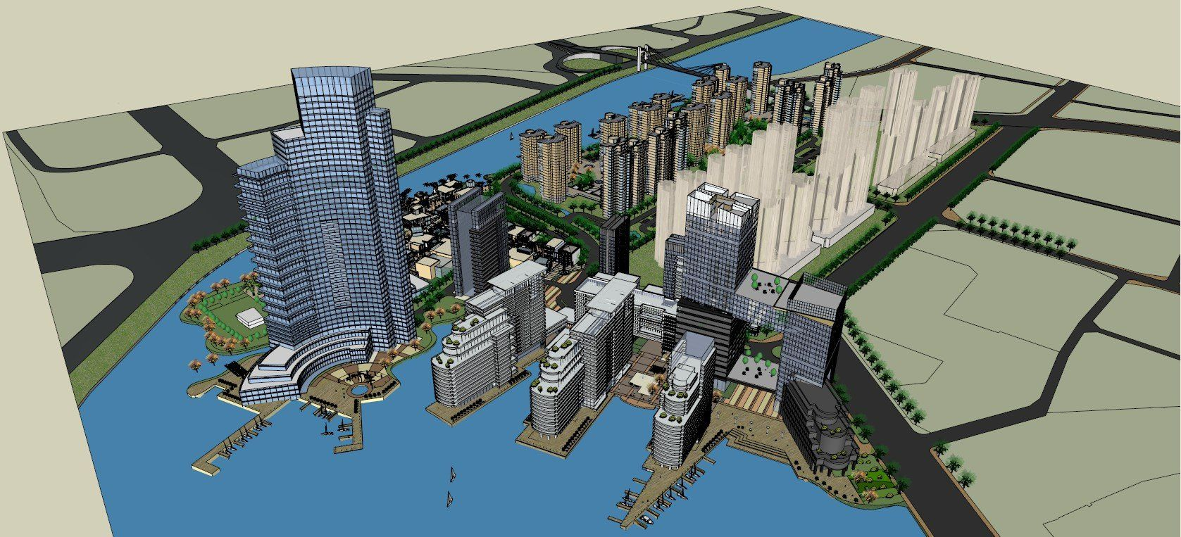 ☆Sketchup 3D Models-Large Scale City Sketchup Models