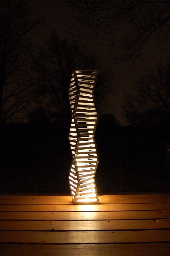 DIAMOND ZIGZAG lamp 46 architect made wood lamp geometric