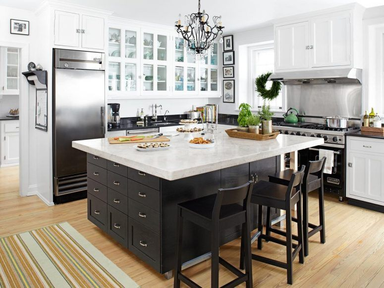 Decorating A Large Kitchen Island