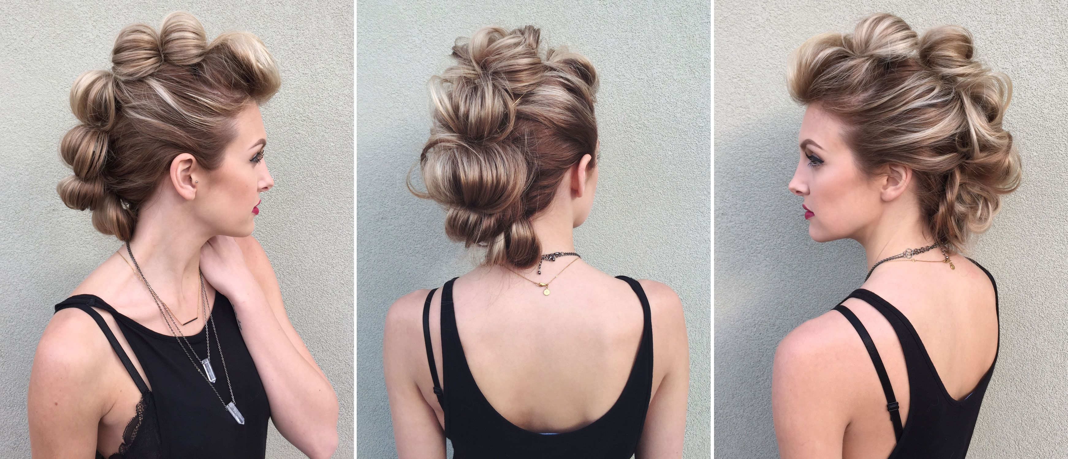 Howto topsy tail looped faux hawk kids braided