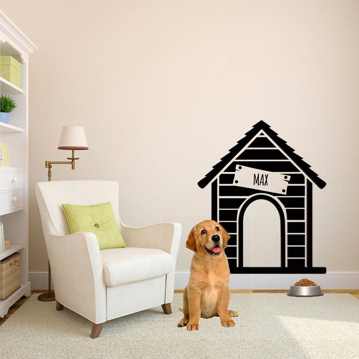 Personalized Dog House Vinyl Wall Art Decal for Homes