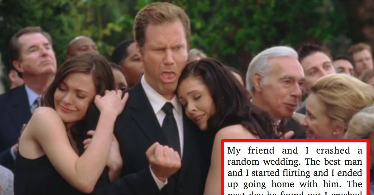 Outrageous Confessions From Real Life Wedding Crashers
