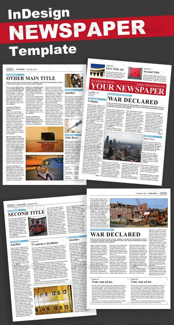 55+ Best Newspaper Templates in InDesign and PSD Formats | Mockups ...