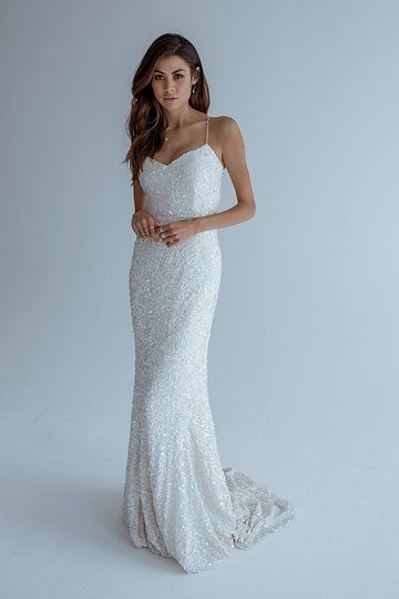 KWH by Karen Willis Holmes sequin \'Anya\' wedding gown. Follow us ...