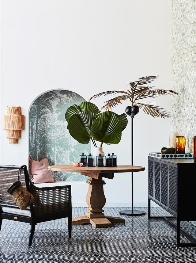 Palm trees, vibrant florals and animal prints feature heavily in British Colonia... -  Palm trees, vibrant florals and animal prints feature heavily in British Colonial interiors.  - #Animal #bohemianTropicalDecor #British #coastalTropicalDecor #Colonia #colorfulTropicalDecor #feature #Florals #heavily #Palm #Prints #Trees #TropicalDecorideas #TropicalDecorkitchen #vibrant