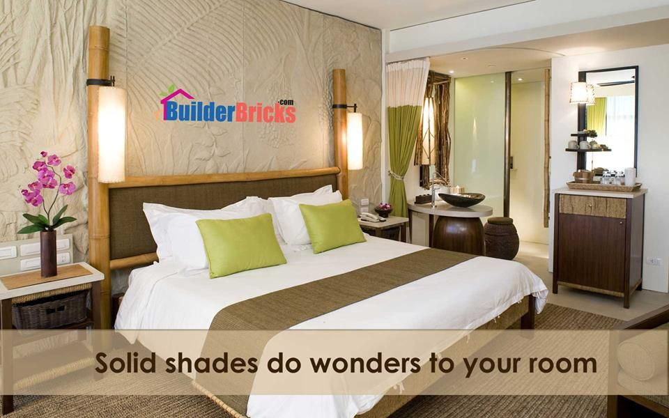 Solid shades do wonders to your room.
