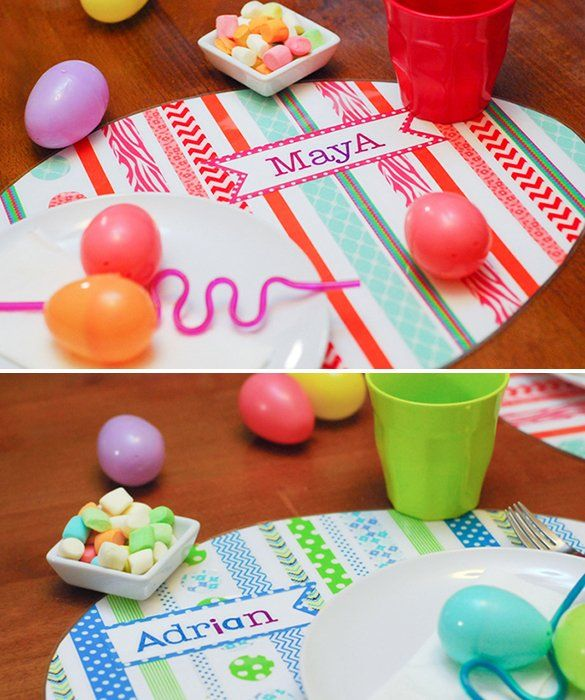 DIY Easter Egg Placemats- A personalized holiday craft the kids can help make!