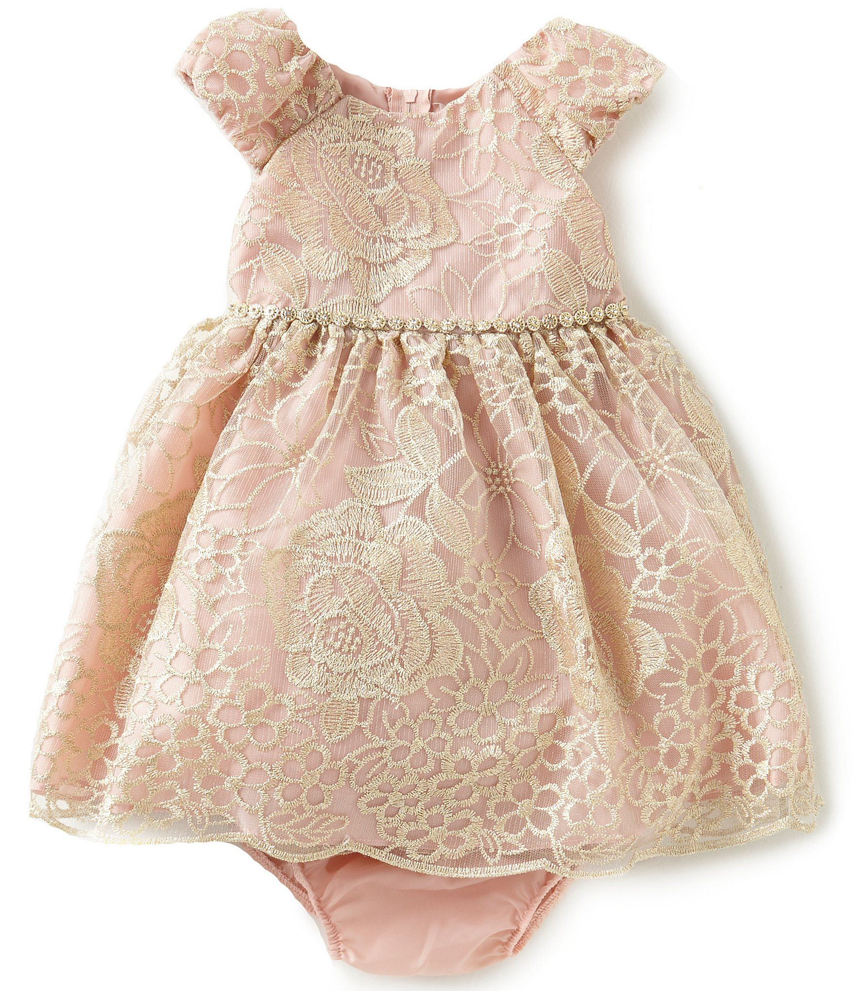 Shop for Rare Editions Baby Girls 12 24 Months Embroidered Mesh
