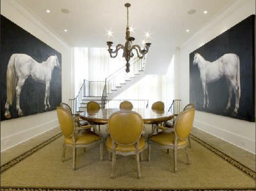 Dining Room Equestrian Photography Horse
