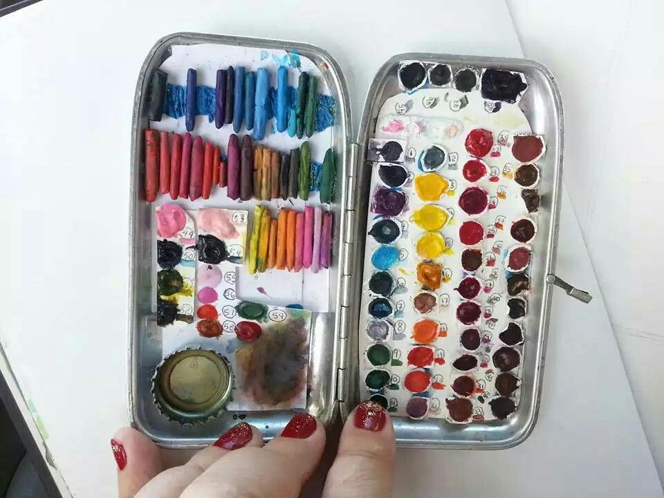 A Very Clever Ultra Portable Watercolor Box Super Compact I Love