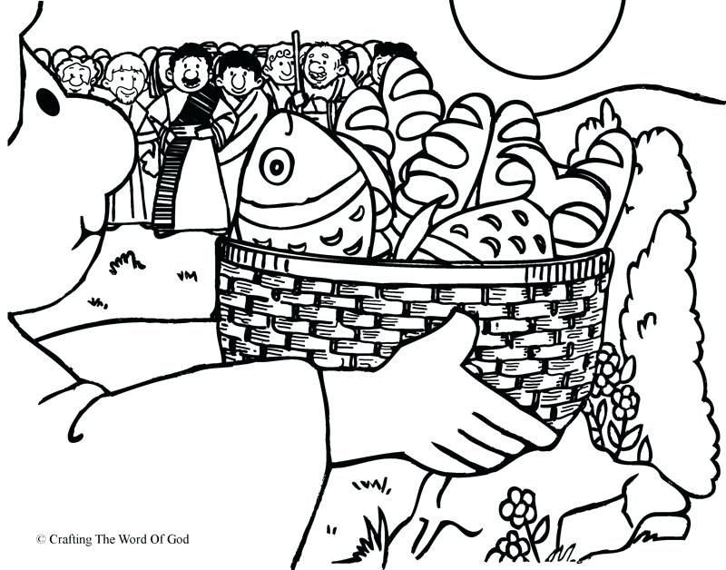Jesus Feeds 5000 Coloring Page Jesus Feeds 5000 Coloring ...