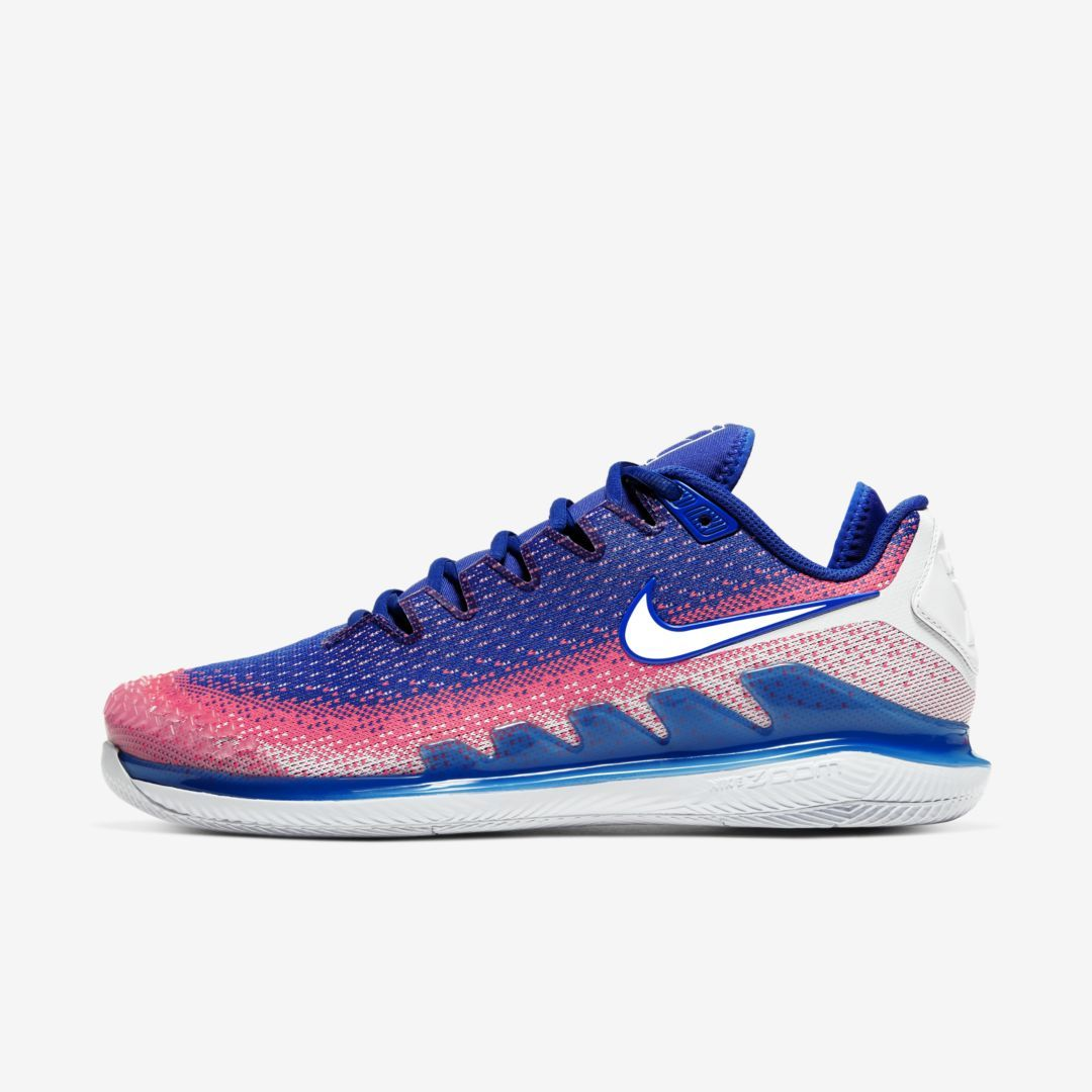 Nikecourt Air Zoom Vapor X Knit Men S Hard Court Tennis Shoe Sneakers Fashion Outfits Sneakers Fashion Blue Shoes