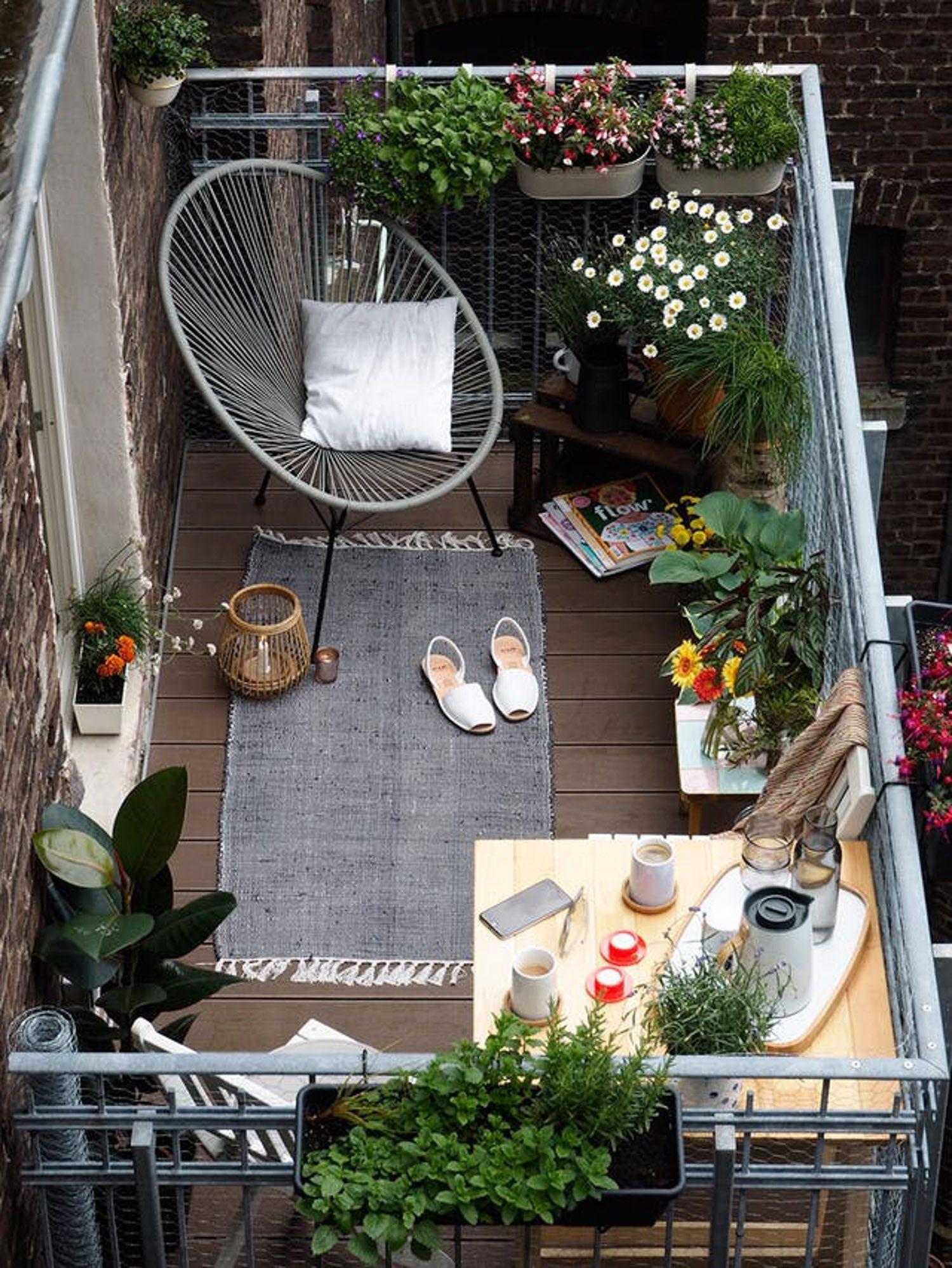 Apartment Balcony Garden Decor
