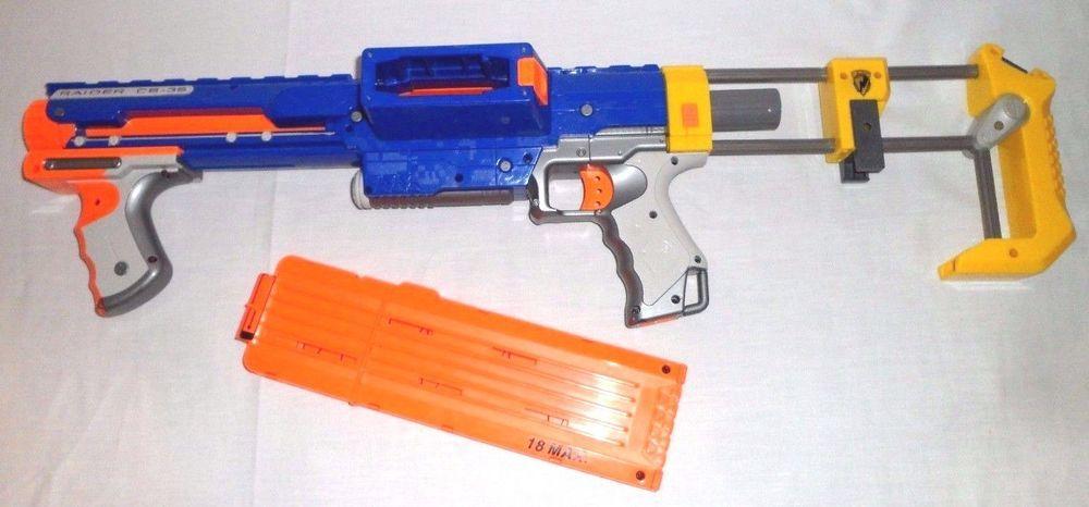 Hasbro nerf n-strike raider cs-35 dart gun blaster w/detachable stock  attachment