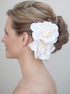 Hair Piece Gardenia Hair Gardenia Bridal Bridal Headpieces Bridesmaid Cute Hai Wedding Hairstyles With Veil Bridal Flower Headpiece Hair Ornaments Wedding