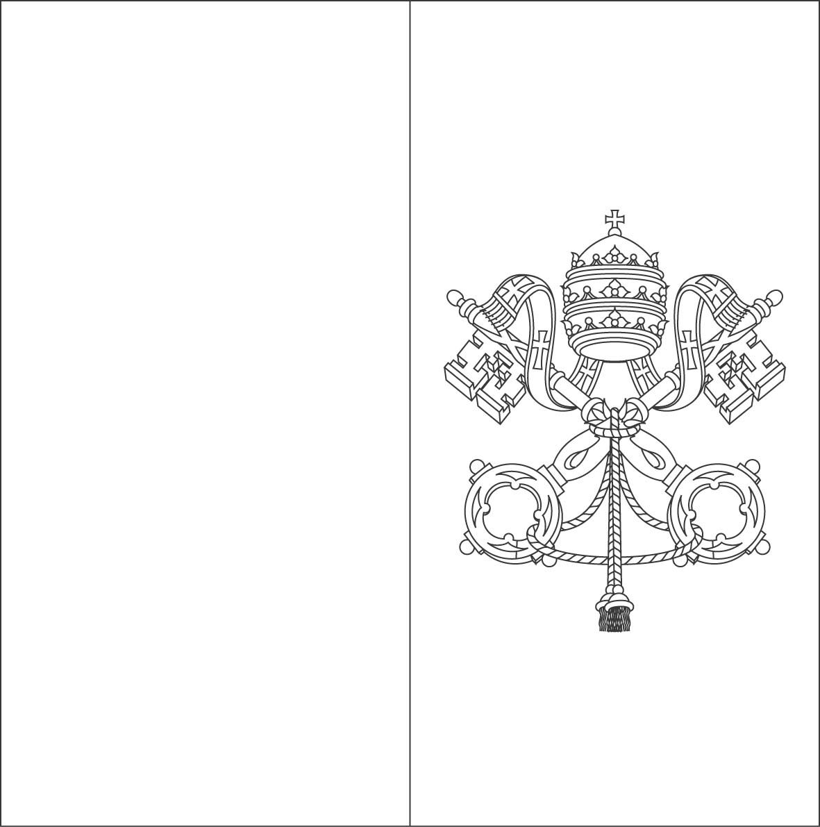 Vatican Flag Coloring Sheets Plus Coloring Sheets For All Us And