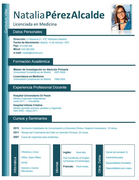 Resultado de imagen para DE CURRICULUM VITAE DE MEDICOS Y ENFERMEROS ...