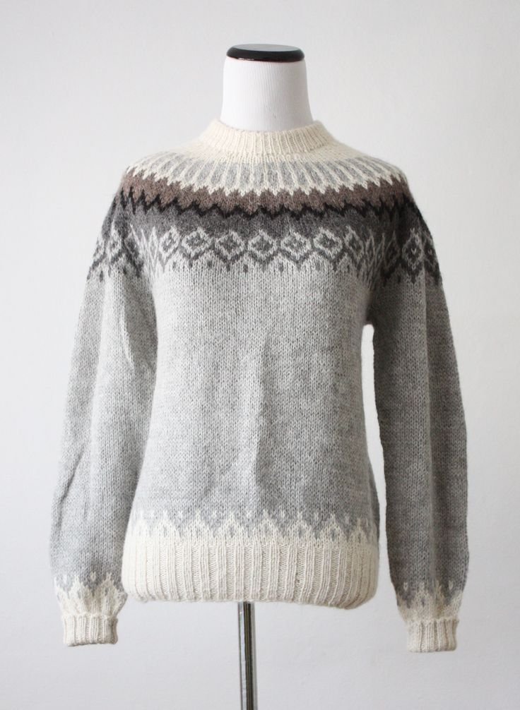 vintage fair isle sweater: | knit | Pinterest | Sacos, Dos agujas y ...