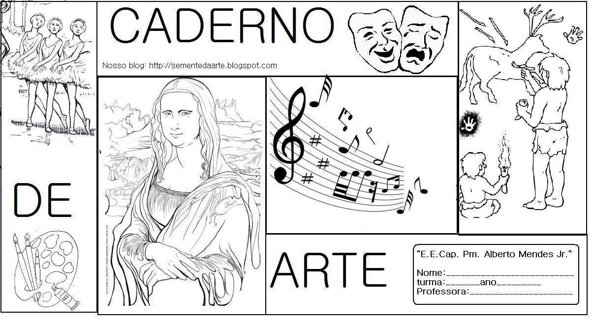 Resultado De Imagem Para Abertura De Caderno De Artes Com Imagens