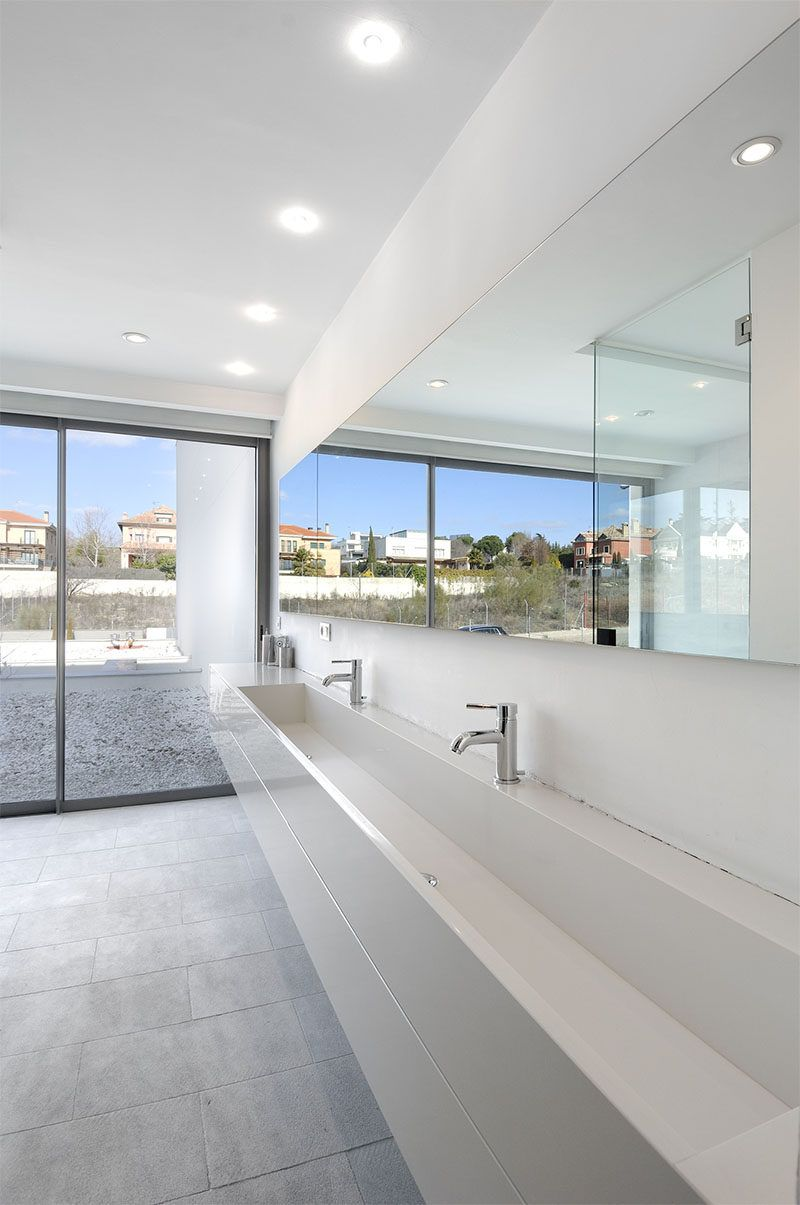Bathroom Design Idea Extra Large Sinks or Trough Sinks Trough