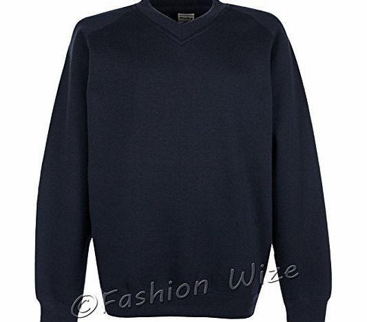 Miss Chief Boys Girls School Jumper V Neck Sweatshirt Uniform Age ...