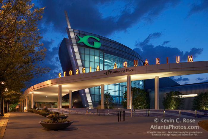 The Georgia Aquarium At Dusk Georgia Aquarium Atlanta