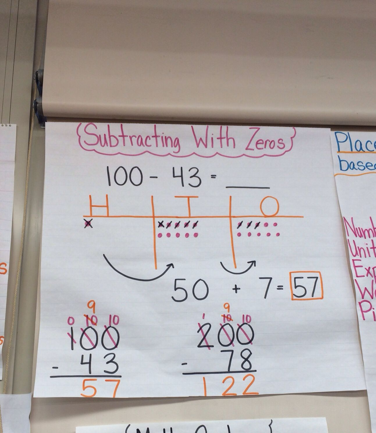 Subtracting With Zeros