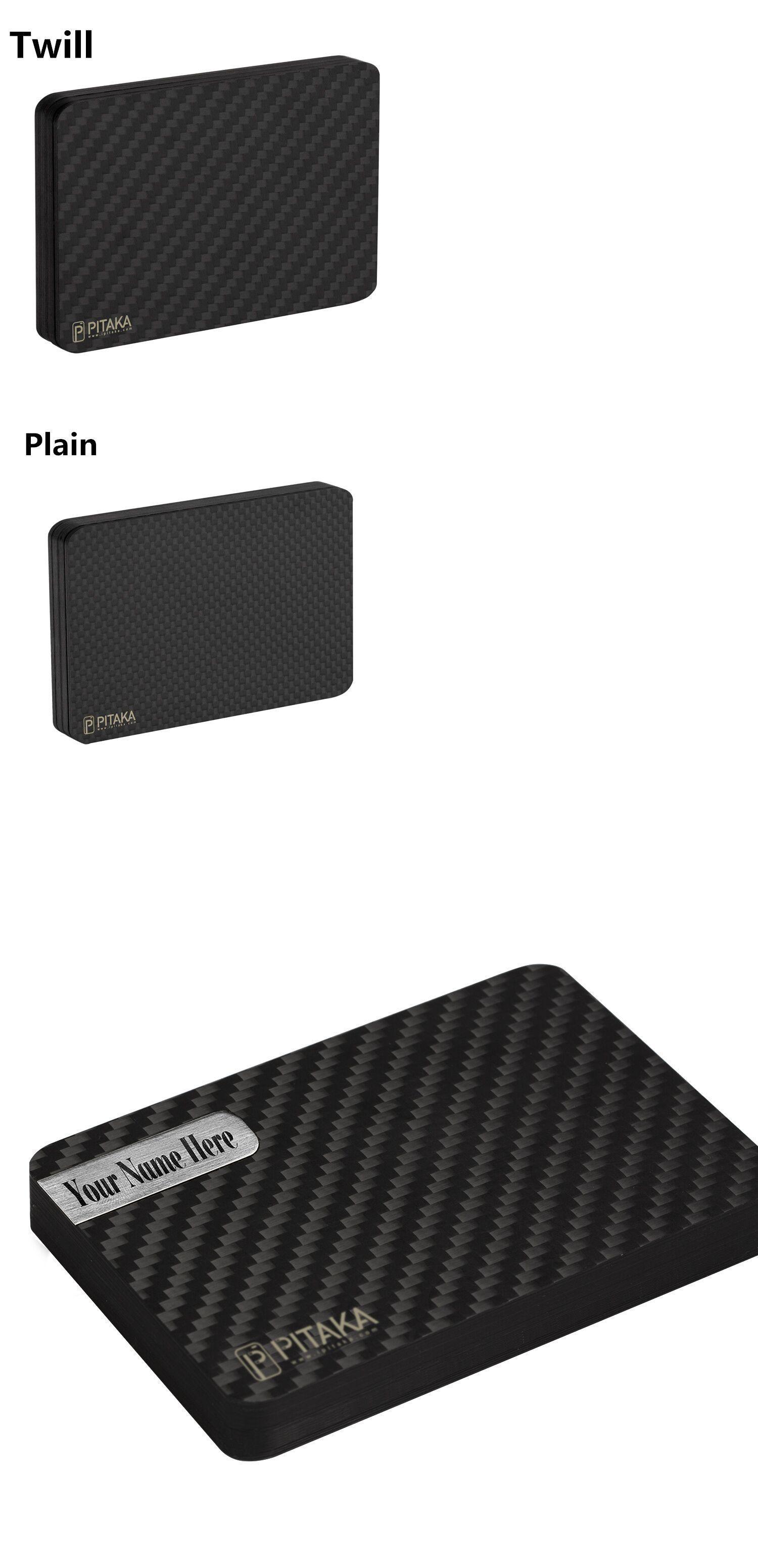 PITAKA Modular Slim Light Black Card Holder SALE Carbon Fiber Magnetic Wallet