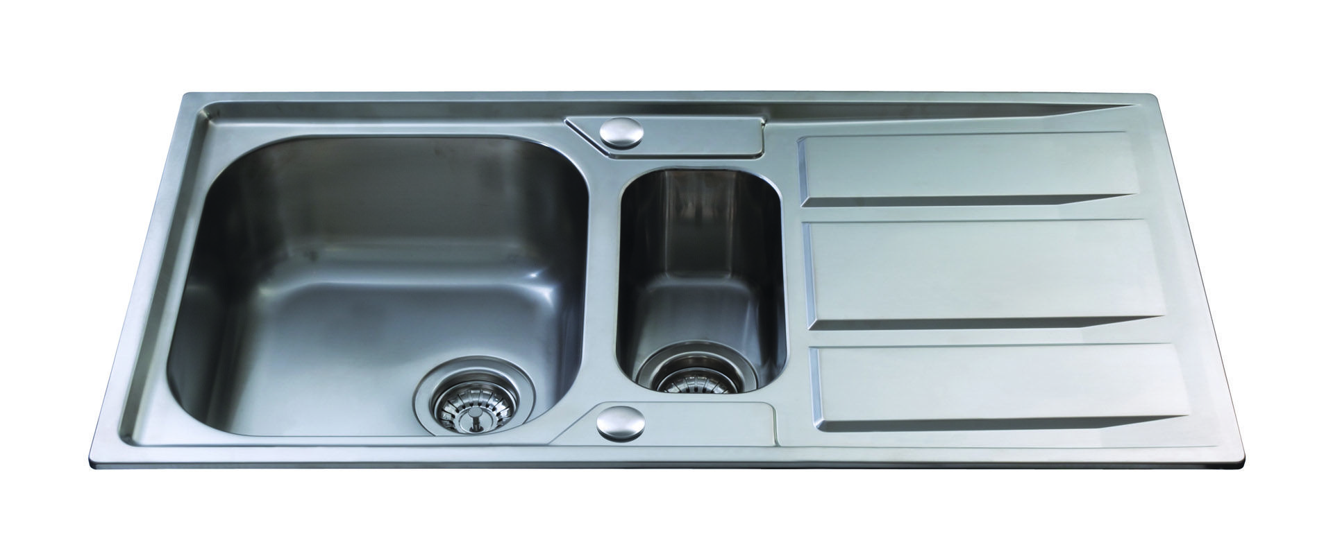 CDA KA82SS Double Bowl Sink - Stainless Steel Finished in polished ...