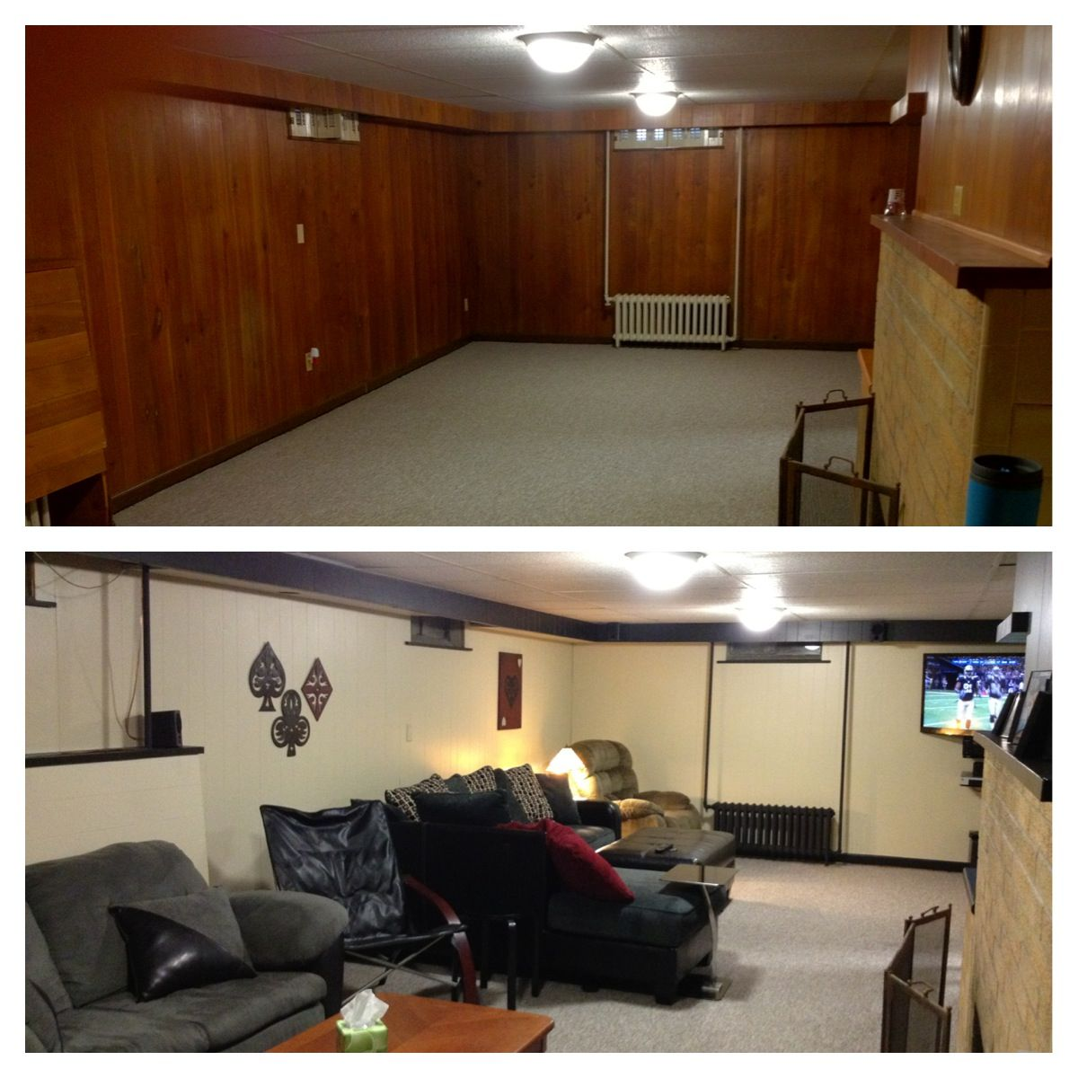 Paint Basement Wood Paneling