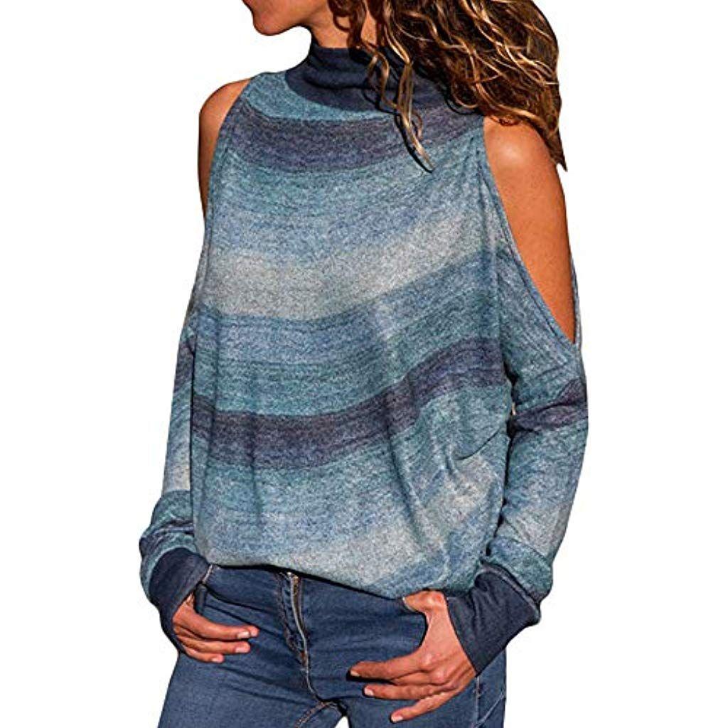 Roiper Sweatshirt De lépaule Chemise Femmes Automne Hiver Femmes Sweatshirt  à Manches Longues Impression Lèvre Col d168024fda71