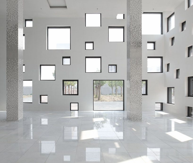 Repetition and rhythm this piece 39 s repetition of cubes throughout the design gives it a sense of for Cube interiors