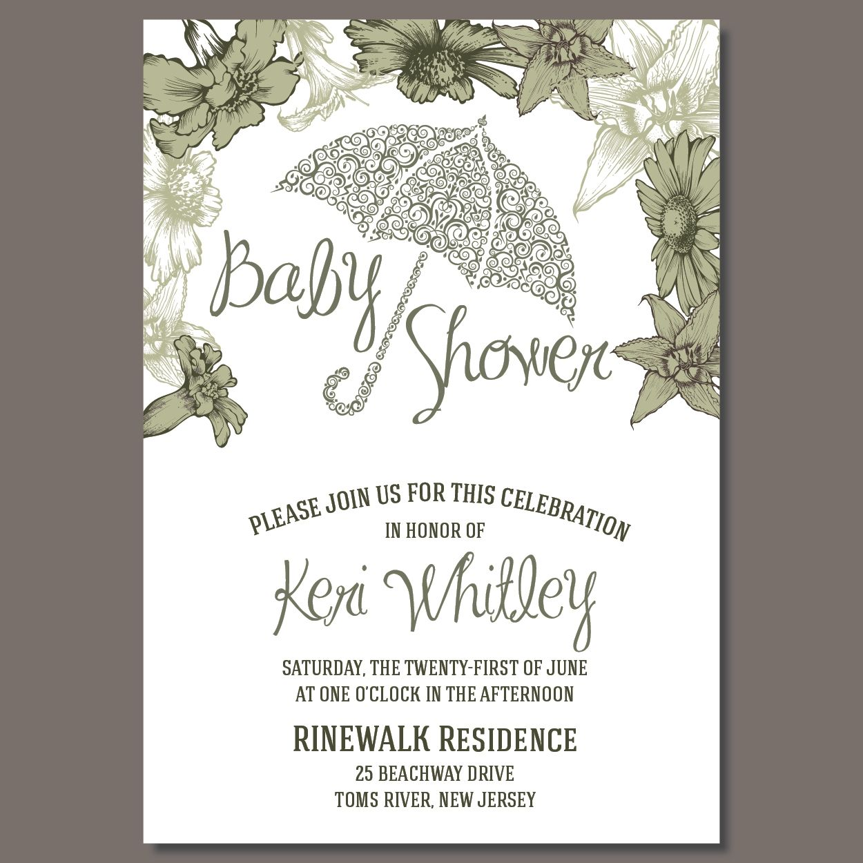 Umbrella Baby Shower Invitation as LOW as $1.12 #babyshower ...
