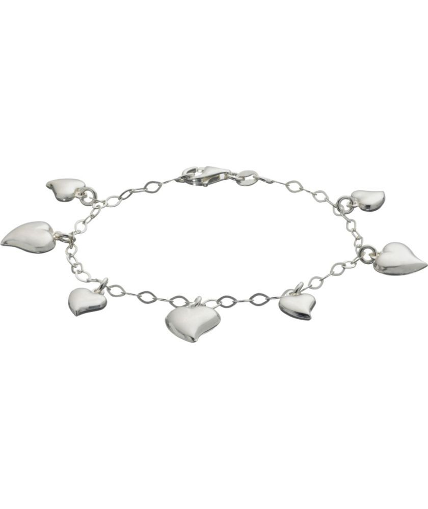 48461f2e7 ... best price buy sterling silver puffed heart charm bracelet at argos  your online 6b6c5 ccd91