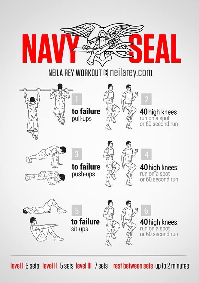 Navy Seal Bodyweight Workout
