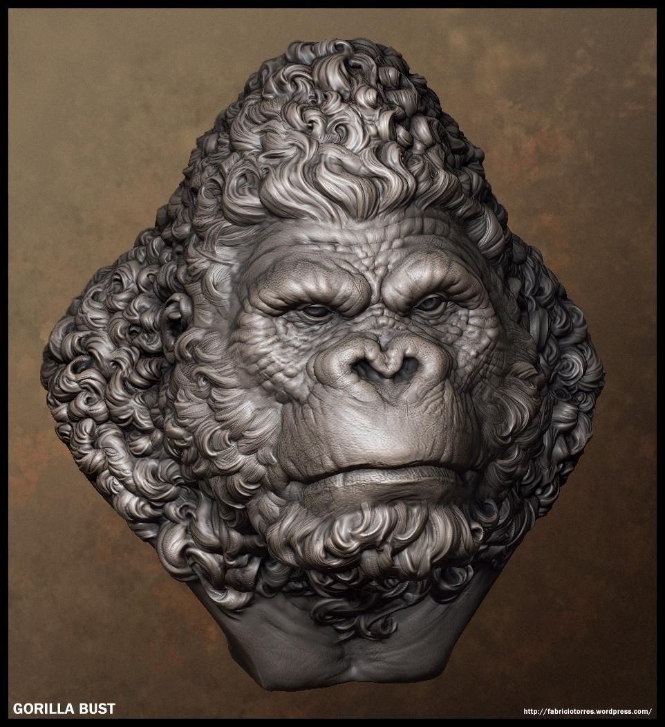 ape_13.jpg 3d art sculpture, Sculpture art