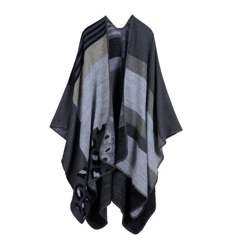 Plaid women's travel cape fashion national trend cloak