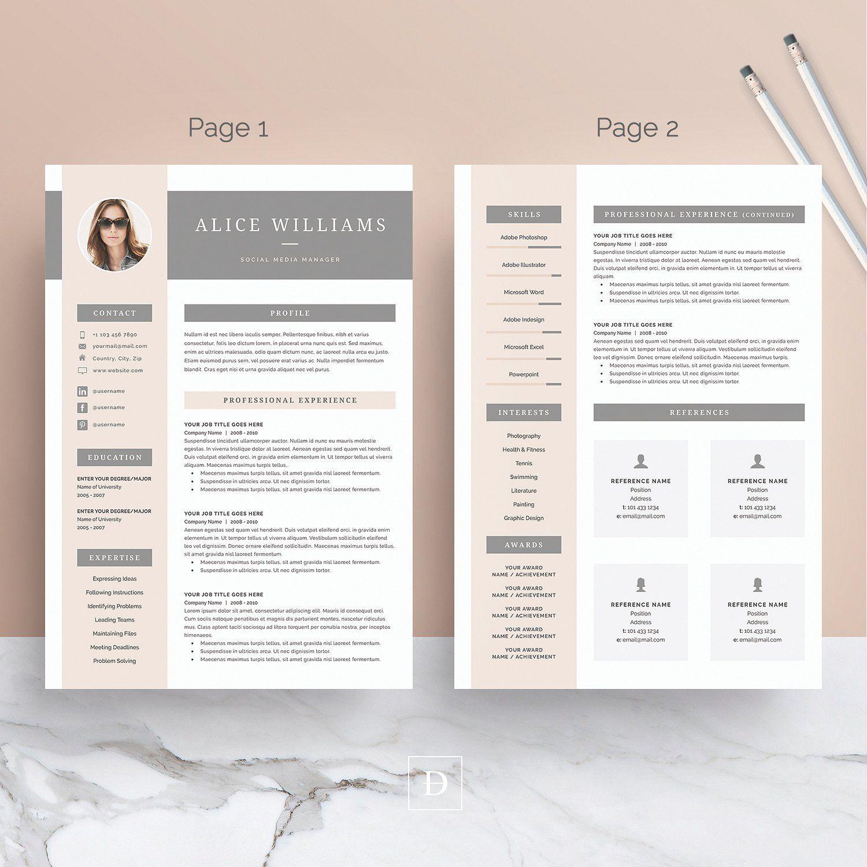 Word Resume & Cover Letter Template Resume design