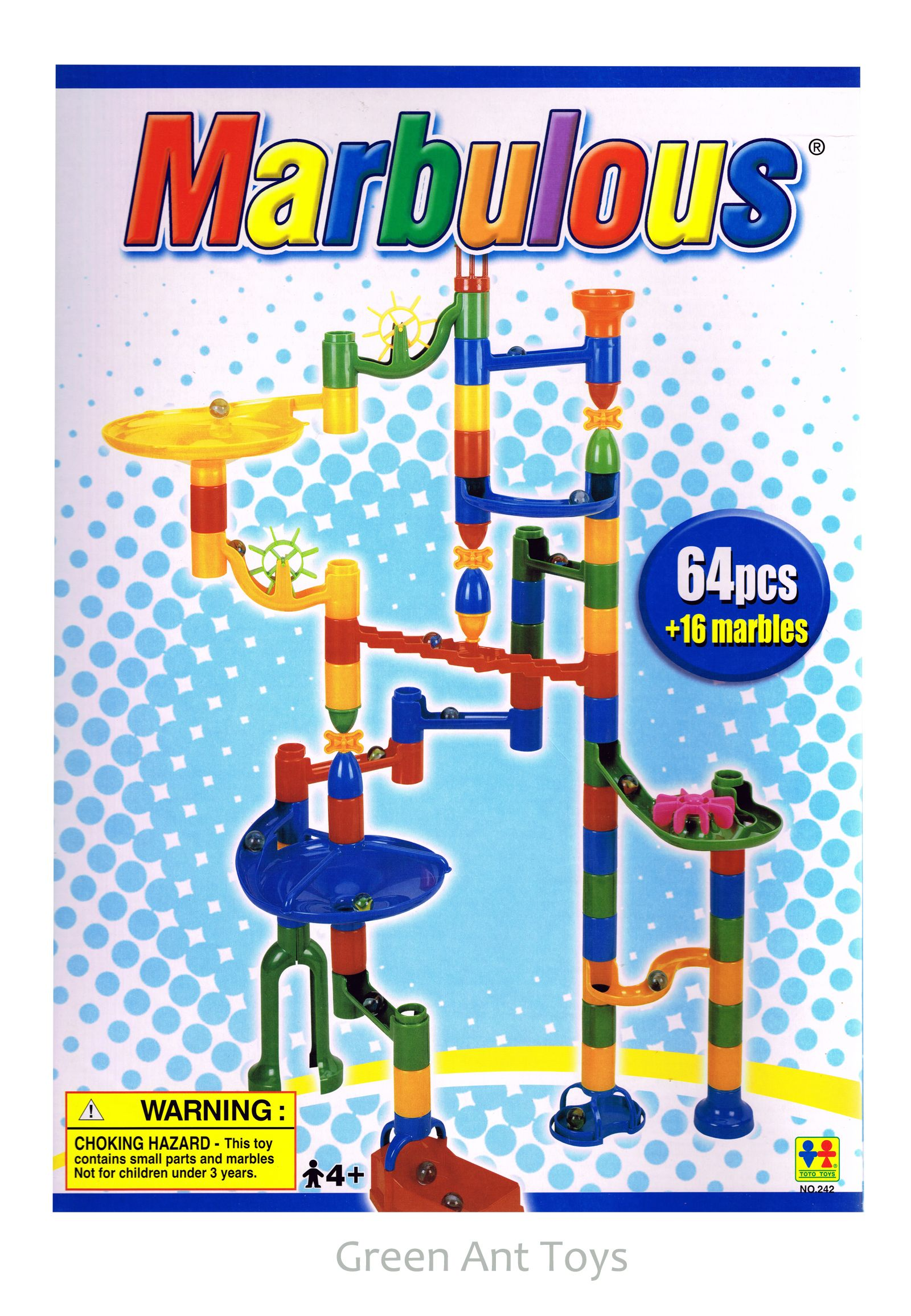 Marbulous Marble Run 80 Pieces Kids Toys line Green Ant Toys