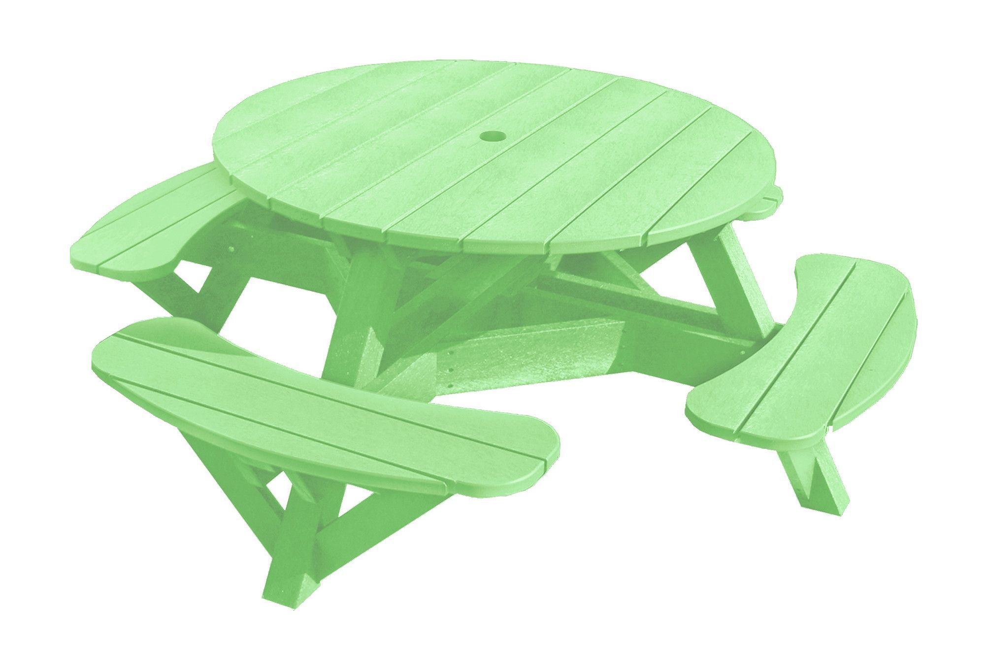 Trinidad Picnic Table With Images Round Picnic Table Plastic