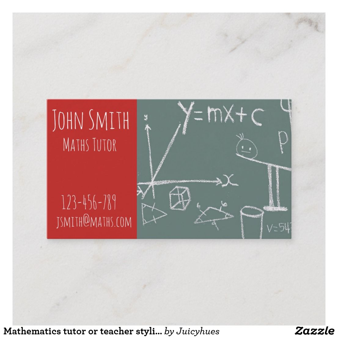 Mathematics Tutor Or Teacher Stylish Advanced Math Business Card Zazzle Com In 2021 Teacher Business Cards Graphic Design Business Card Mathematics