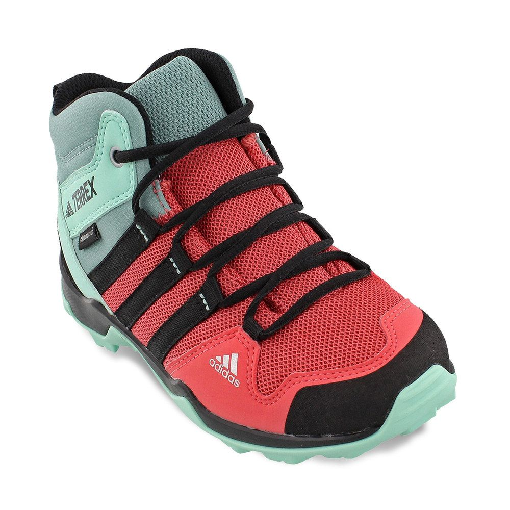 detailing 91cee d43ac Adidas Outdoor Terrex AX2R Mid Climaproof Girls  Waterproof Hiking Shoes,  Size  2, Med Pink