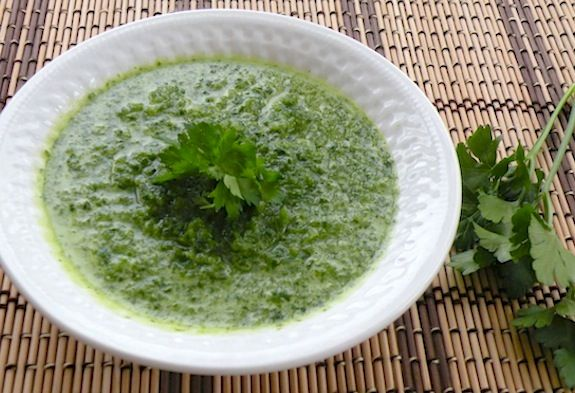 Fresh parsley salad dressing