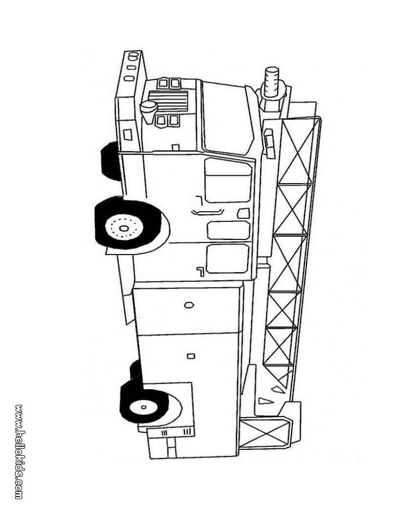 Fire engine | Munchkin | Pinterest | Feuerwehrautos, Ausmalen und ...