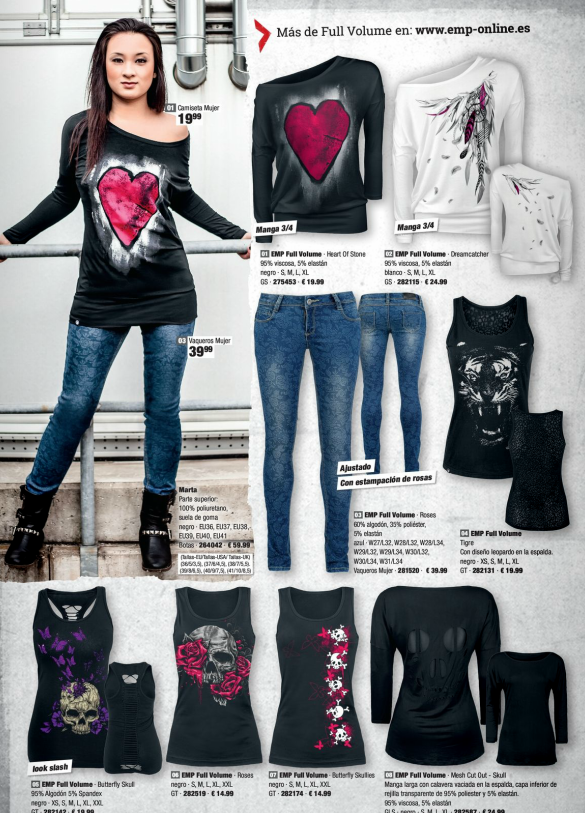 202e3fd57 Full Volume   EMP Online España Catálogo Verano 2014 • Tienda Rock Heavy  Metal Gótica y Ropa Alternativa   emp.me 6mn