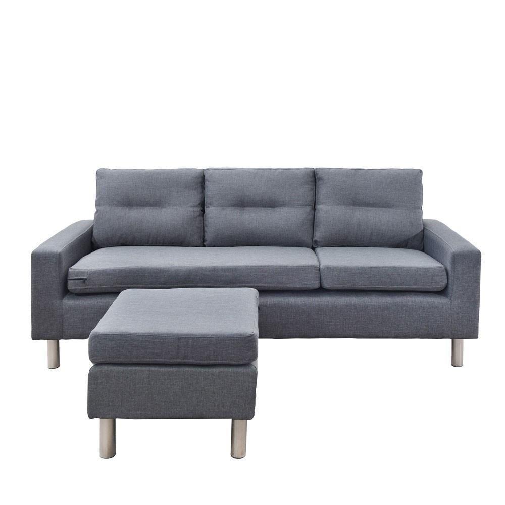 Details about Linen Fabric Sofa Couch Outdoor Lounges Futon Suite ...