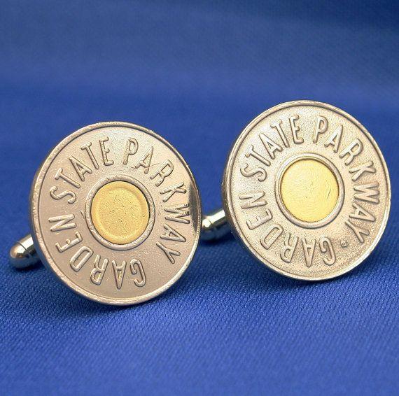 New Jersey Garden State Parkway Token Coin Cufflinks