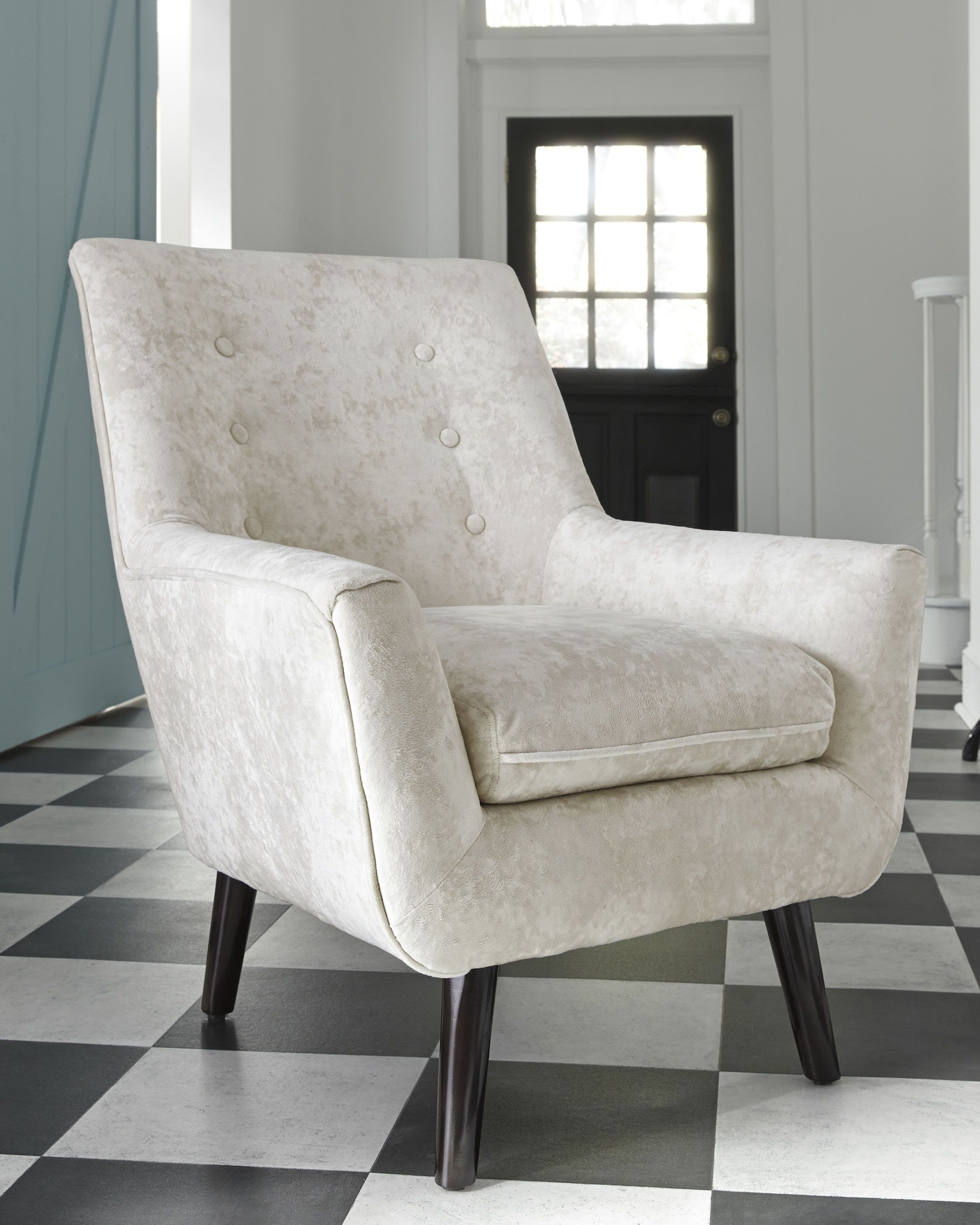 Zossen Accent Chair Ivory In 2020 Accent Chairs Furniture