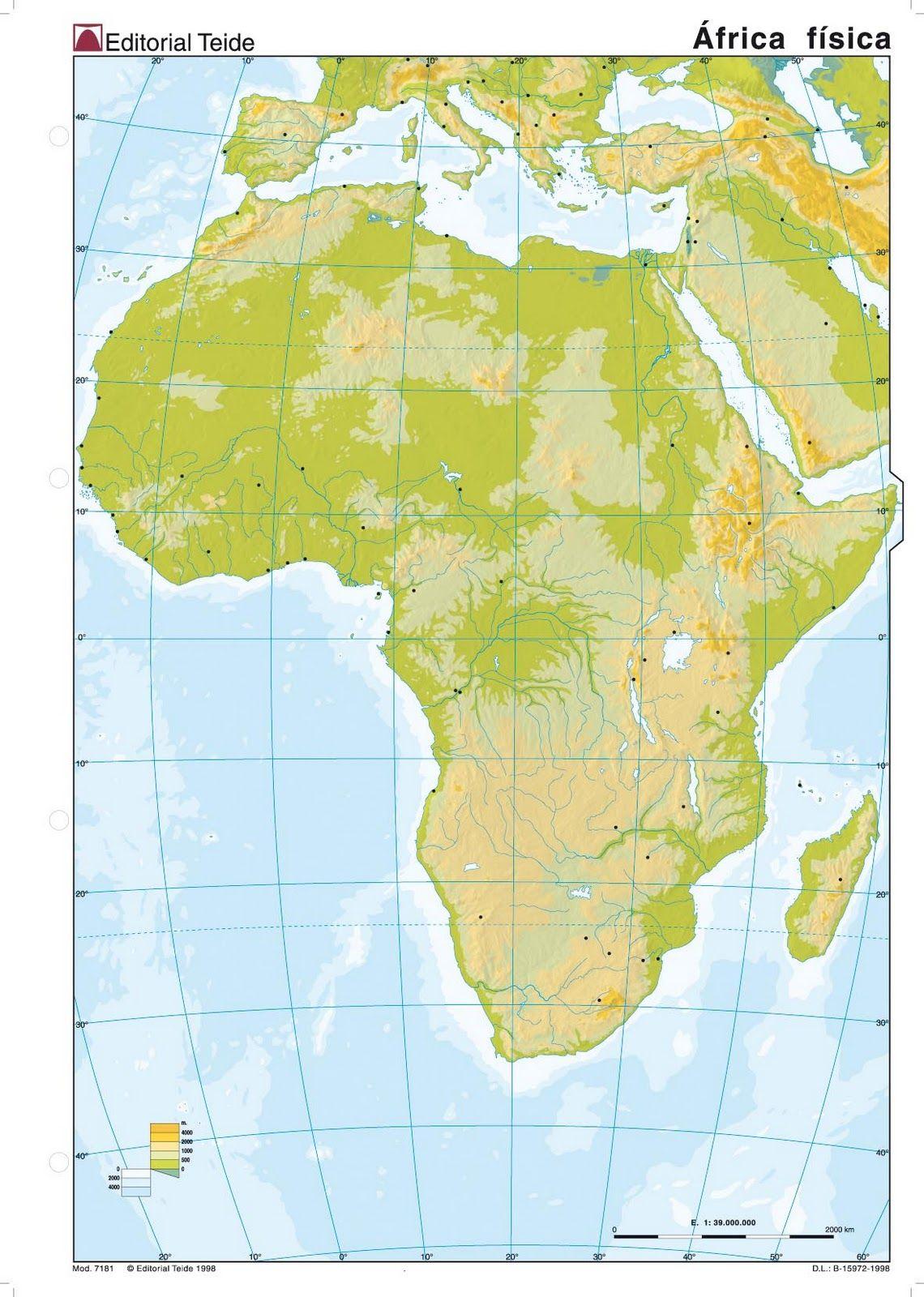 mapa fisico de africa para colorear  Buscar con Google  tareas