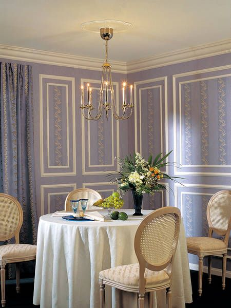 Elegant Wall Decor | Luxury dining room, Wall molding ...
